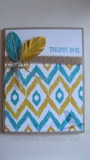 Fancy Feathers, Thank You Card