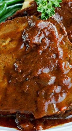 German-Style Pot Roast (Sauerbraten) - my introduction to this wonderful roast was at the dinner table of a friend in high school. She and her family had come to the U.S. from Germany when my friend was five. I learned many wonderful home-style German dishes from her mother and her aunt. It's a shame German cooking is not better known and served here. It is a rich, hearty food that always leaves one feeling satisfied.