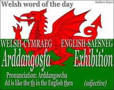 #Welsh word of the day: Arddangosfa/ #Exhibition