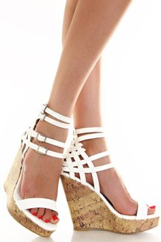 33e7d4a372ec White Faux Leather Weave Platform Wedge Sandal White Wedge Shoes