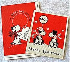 Schnauzer Dog Christmas Greeting Cards - Vintage 1940's Ephemera - Vintage Greeting Cards, Vintage Christmas Cards, Retro Christmas, Vintage Ephemera, Christmas Greeting Cards, Christmas Greetings, Black And White Dog, White Dogs, Happy Hearts Day