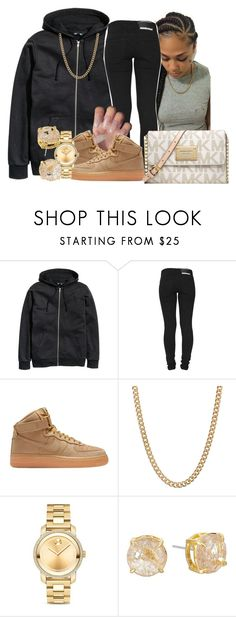 """""""simple,"""" by kashharmonii ❤ liked on Polyvore featuring H&M, Dr. Denim, NIKE, ASOS, Movado and Vince Camuto"""