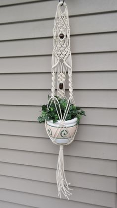 Macrame plant hanger hanging planter plant holder by MainlyMacrame