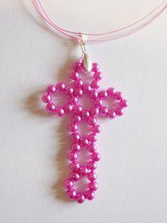 Návod na kříž z korálků Jewelry, Beading, Jewlery, Jewerly, Schmuck, Jewels, Jewelery, Fine Jewelry, Jewel