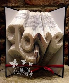 Book Folding Pattern – Love  - 10 Awe-inspiring Book Folding Patterns All Book Lovers Will Appreciate