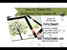 How to Stamp the Sheltering Tree stamp set in multiple colors for the leaves. Video Tutorial by Patty Bennett Patty's Stamping Spot