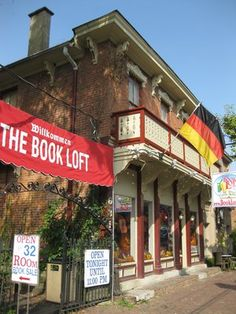Book Loft of German Village, Columbus Ohio  (I could have spent HOURS in that store.  I loved all the rooms and nooks and crannies)
