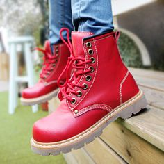 eight-hole Martin boots British school shoes and ankle boots - US$ 55.15