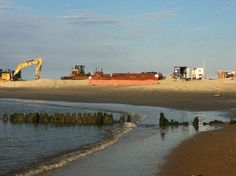 Dredging Port Monmouth one year after super storm Sandy 2014