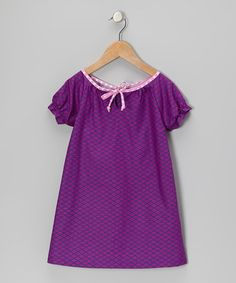 Take a look at this Purple Argyle Lily Dress - Toddler & Girls by Hippo Hula on #zulily today!