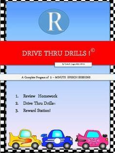 Drive Thru Drills - R - Complete Program of 5-Minute Speech Sessions