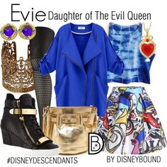 """Get the look! How would the descendant of your favorite Disney character dress? Put together an outfit and submit it here, for your chance to win the ultimate """"The Descendants: Isle of the Lost"""" prize. Disneybound Outfits, Disney Outfits, Cute Outfits, Disney Inspired Fashion, Disney Fashion, Fashion Black, Fashion Fashion, Fashion Ideas, Vintage Fashion"""