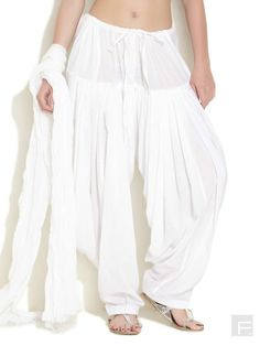 Indian Cotton White color Patiala Salwar With by Milicreation Patiala Pants, Patiala Salwar, Heram Pants, Leggings Are Not Pants, Cotton Harem Pants, Stylish Dresses, Boho Outfits, Style Me, Kundalini Yoga