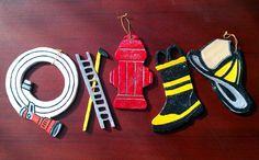 Handmade Wood Customizable Firefighter Christmas Ornaments on Etsy, $15.00