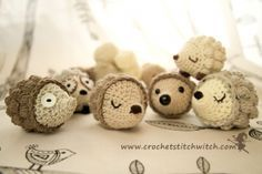 Diddy Hedgehog - free crochet pattern and video at Crochet Stitch Witch.