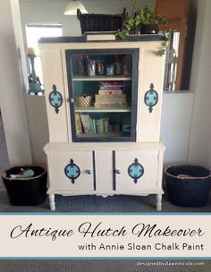 Antique Hutch Makeover {with Annie Sloan Chalk Paint}