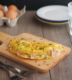Tuna Melt Omelets - Maybe not first think in the morning. Sounds great for lunch!