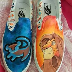 Give a woman the right shoes, and that girl can conquer the world. Custom Vans Shoes, Custom Painted Shoes, Hand Painted Shoes, Painted Vans, Hype Shoes, On Shoes, Me Too Shoes, Shoes Sandals, Disney Vans