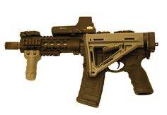 Law Tactical SBR. Folding AR mount for stock