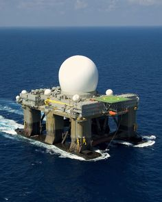 Sea Based X-Band Radar........ It is nominally based at Adak Island in Alaska (though, as of November 2013 has never put into port at Adak) but can roam the Pacific Ocean to detect incoming ballistic missiles.