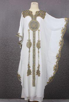 Ausgefallene Batwing Stil weißer Kaftan Kleid Dubai von Yosika
