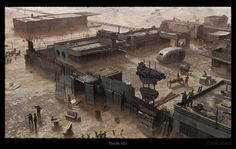 Welcome to the Wasteland. Post Apocalypse, Apocalypse World, Apocalypse Survival, Cyberpunk, Apocalypse Landscape, Arte Zombie, Zombie Art, Post Apocalyptic Art, Rpg Map