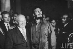 Khrushchev and Castro.