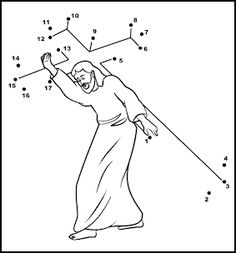 jesus on the cross coloring page - Google Search