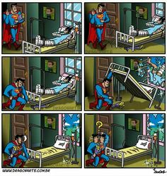 """Superman LITERALLY kills Batface with a bed and a window while looking for flowers. WHHHHYYYY??!!""(Part 1)"