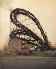 Robert rabe art prints of cincinnati scenes coasters