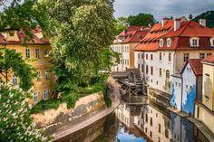L'île de Kampa et la rivière Čertovka - Prague