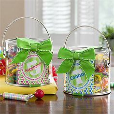 It's Your Birthday Personalized Paint Can.  Fill with a gift card and candy.  Unique gift for a kiddo.