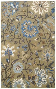 RugStudio presents Safavieh Jardin Jar724b Green / Multi Hand-Tufted, Better Quality Area Rug, medium shedding