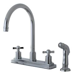 "Kingston Brass KS8791ZX 8"" Centerset Kitchen Faucet, Polished Chrome //Price: $149.95 & FREE Shipping over $99 //"