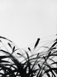 acrylic on canvas - #acrylic #minimal #blackandwhite #black #white #floral #painting