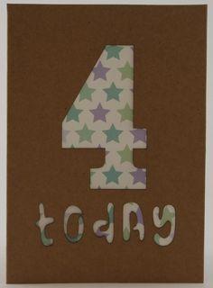 Birthday Card Age 4 £2.50