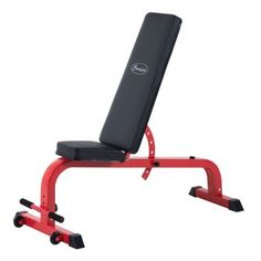 Soozier 7 Position Folding Adjustable Weight Bench - Red/Black * You can get additional details at the image link. Adjustable Weight Bench, Adjustable Weights, Weight Lifting Gloves, Best Home Gym Equipment, Weight Benches, Strength Training Workouts, Red Black, Top, Foam Cushions