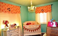Enhance your baby room with cute decorating ideas! Baby nursery curtains for boy and girl can do more than just window treatments but room improvement