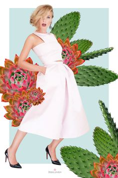 Etrala London #CACTUS collection Made in #London from 100% #natural #fabrics.  #Silk #Croptop and matching #culottes  #ethical #sustainable #eco #fashion #clothing #brand #online #shop #quality #handmade #madeinLondon #unique #women #clothing