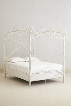 My dream bed frame Forest Canopy Bed Hanging Furniture, Unique Furniture, Bedroom Furniture, Home Furniture, Furniture Design, Bedroom Decor, Handmade Furniture, Bedroom Storage, Furniture Sets