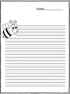 Bee writing paper