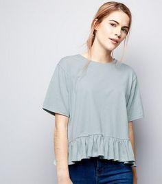 Mint Green Peplum Hem T-Shirt