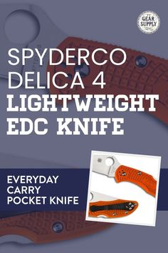 Looking for the Spyderco Delica 4 Lightweight EDC Knife for your urban everyday carry gear? Save money on everyday carry premium pocket knives. Explore top-rated budget-friendly compact lightweight utility knives and other essential EDC gear at affordable prices from Gear Supply Company. #everydaycarry #edcknives #pocketknives #urbaneverydaycarry Edc Fixed Blade Knife, Edc Knife, Edc Carry, Carry On, What Is Edc, Prepper Supplies, Edc Essentials, Urban Edc, Everyday Carry Items