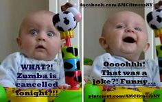 WHAT?! Zumba is cancelled tonight?! OOOOHH! That's a joke?! Funny... Facebook.com/AMCfitnessNY