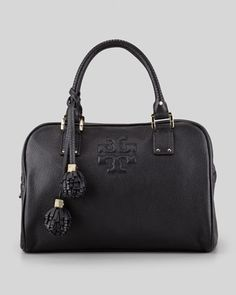 Thea Satchel Bag, Black by Tory Burch at Neiman Marcus. I am in LOVE!!!!