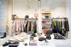 Founded by Veja founders, Sébastien Kopp and François-Ghislain Morillon, to create a place between the store and the creative space. Parisian Store, Takeaway Shop, Best Designer Brands, Fast Fashion Brands, Centre Commercial, Paris Shopping, Cool Store, French Brands, Love To Shop