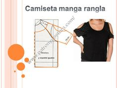 Patrón y costura : Diy camiseta de señora con manga rangla. Tema 161