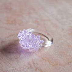 Lilac Glass Cluster Ring Uncovet