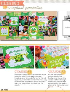 CREATE: Issue 13, March 2015  Scrapbook pages, cards, embellishments and more featuring Scrapbook Generation's exclusive sketches. Featured manufacturer: Doodlebug.