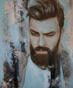 Levi Stocke painting by Meredith Marsone